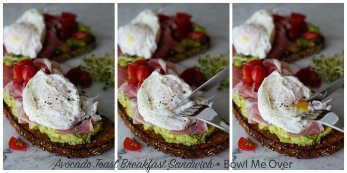 The soft poached egg makes it's own sauce for this delicious Avocado Toast!