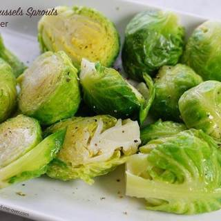 Steamed Brussels sprouts are an easy side dish, healthy too!