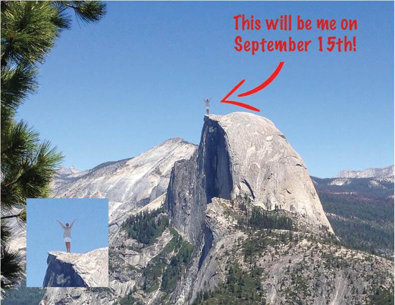 A photo of Half Dome in Yosemite Park