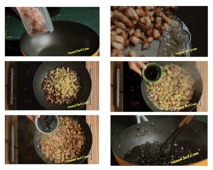Step by Step photos to make Korean Black Bean Sauce