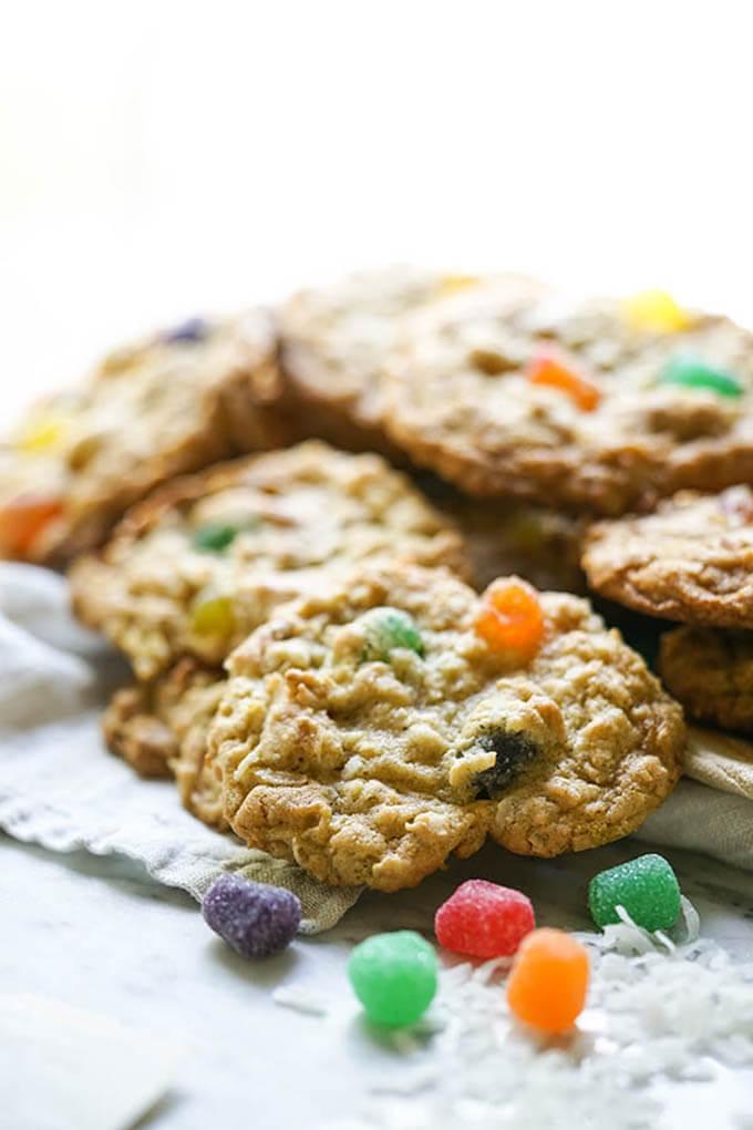 Gumdrop Cookies sitting on a platter.
