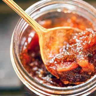 Fig Jam with spoon