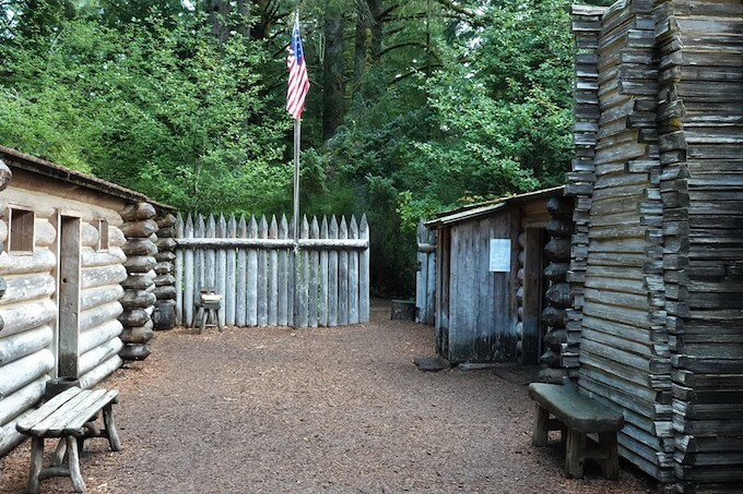 Inside Fort Clatsop Fort
