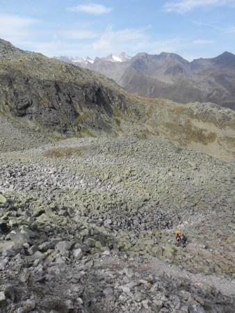 A sea of stones en-route.