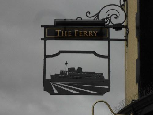 Egremont Ferry - pub sign.