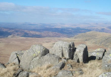 The Knott and White Pike from Stainton Pike, Muncaster Fell in the background.