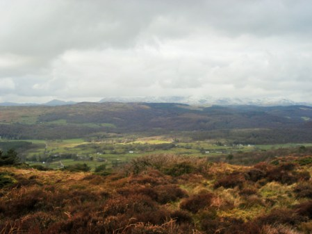 Coniston Fells from Rusland Heights.