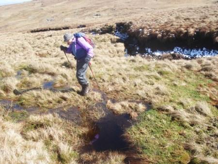 Bog hopping in WET Sleddale.