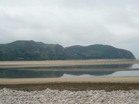Conway Mountain seen across the estuary before the rain.