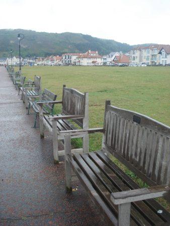 Llandudno West beach - how many memorial seats do you need?