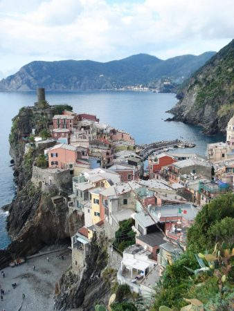 Looking back down on Vernazza.
