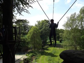 Low ropes course at outdoor center