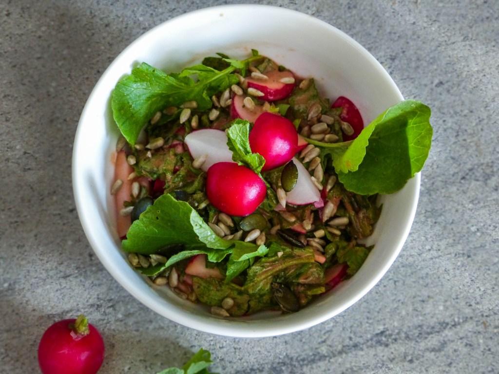 L1050853 LR 71 1024x768 - Nachhaltig kochen: Radieschenblätter Salat
