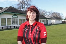 Christine van Reeuwyk/Oak Bay News Jaymee Sidel, Oak Bay Lawn Bowling Club March 2016