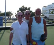 Paul Dennison (left) & Ken Powrie (right) with referee Tony Chesters (centre)