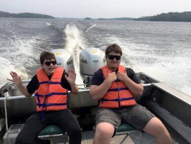 Hamer boys in boat