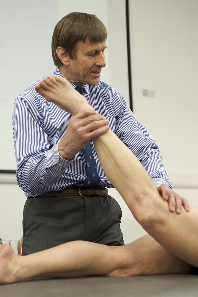 Richard Viller the world renowned orthopedic surgeon photography by Richard Bowring Cambridge