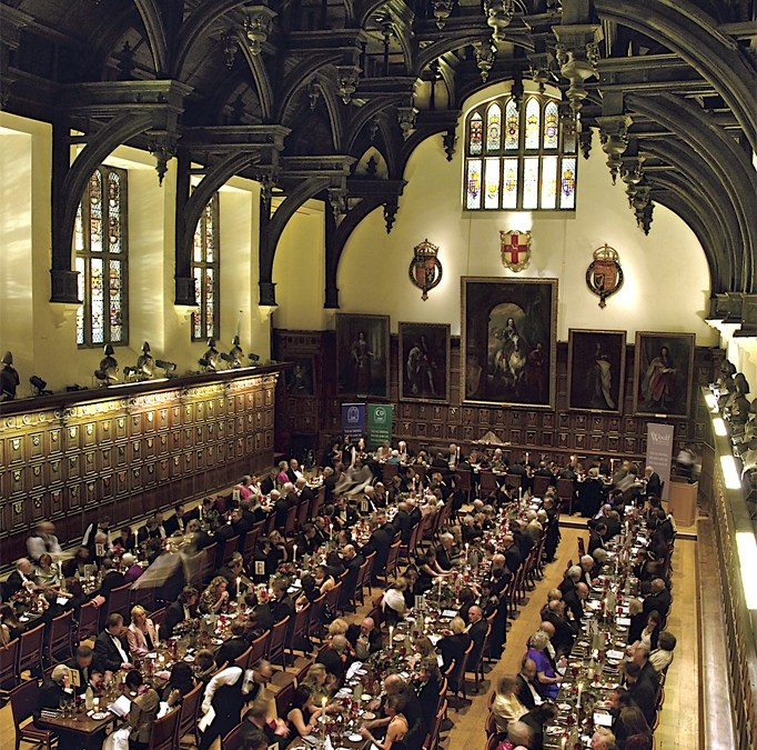 Evening meal at the middle temple hall