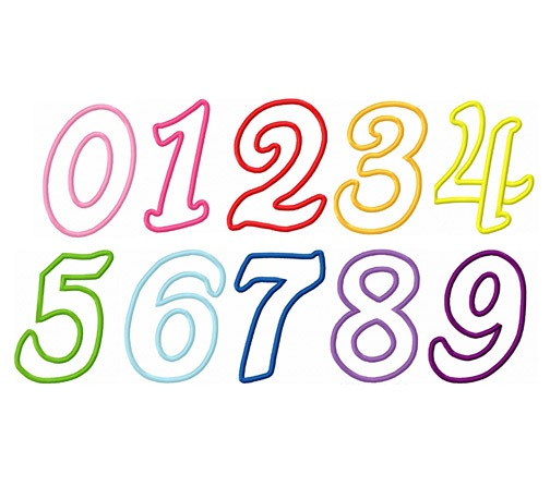 1c  Italic Numbers 4x4, 5x7, & 6x10