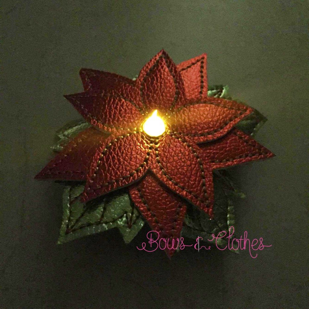 Poinsettia Tea Light Feltie