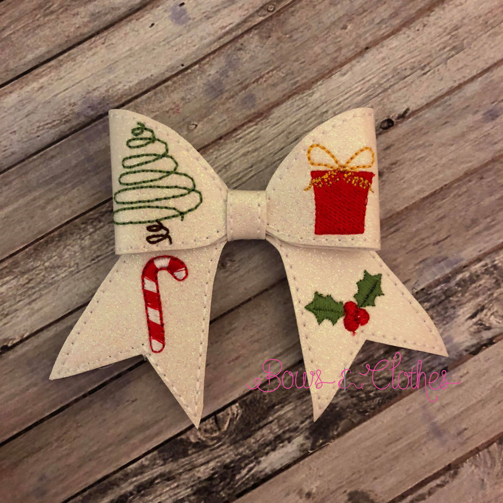 Christmas 1 Cheer Bow