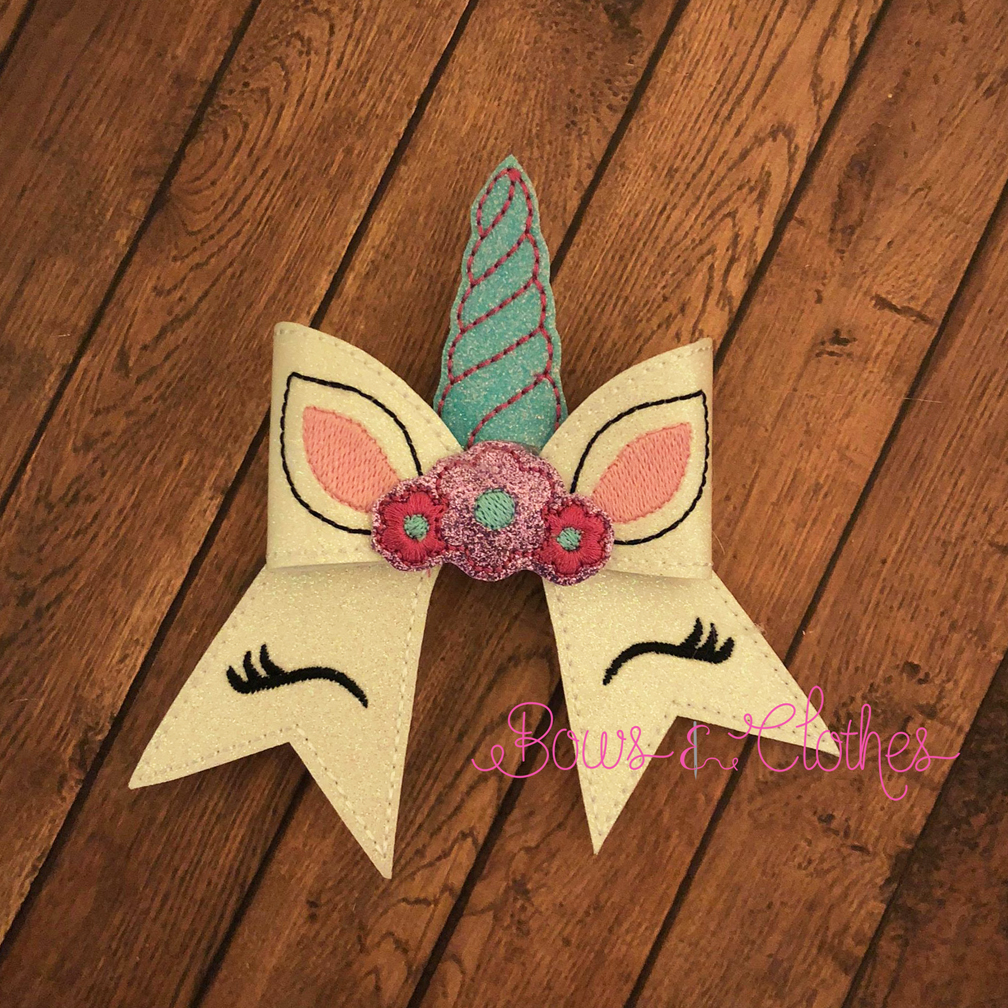 Unicorn 2 Cheer Bow