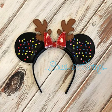 Christmas Light Antler Mouse Ears
