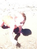 And loving the sand!