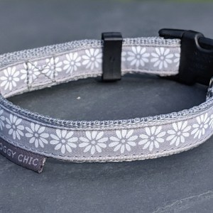 white flowers collar for your dog