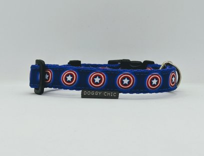 Captain america collar for your dog