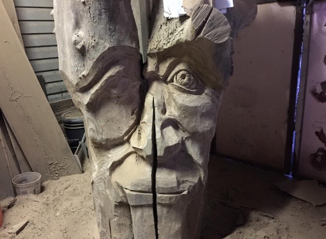 Tree Spirit in progress by Stanton Pace
