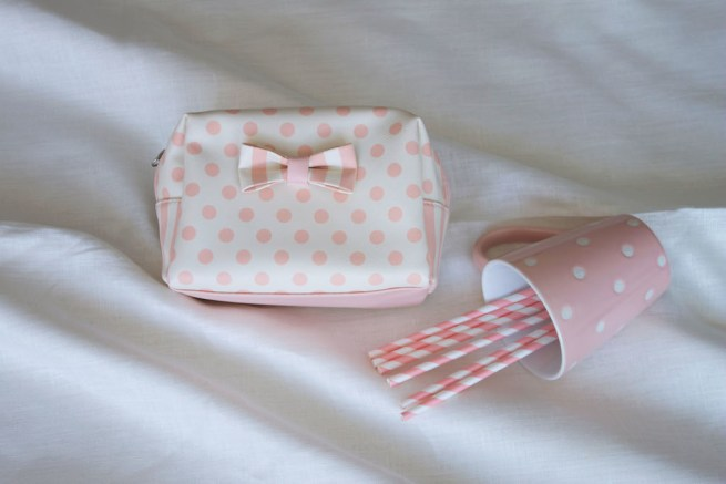 bow make up bag