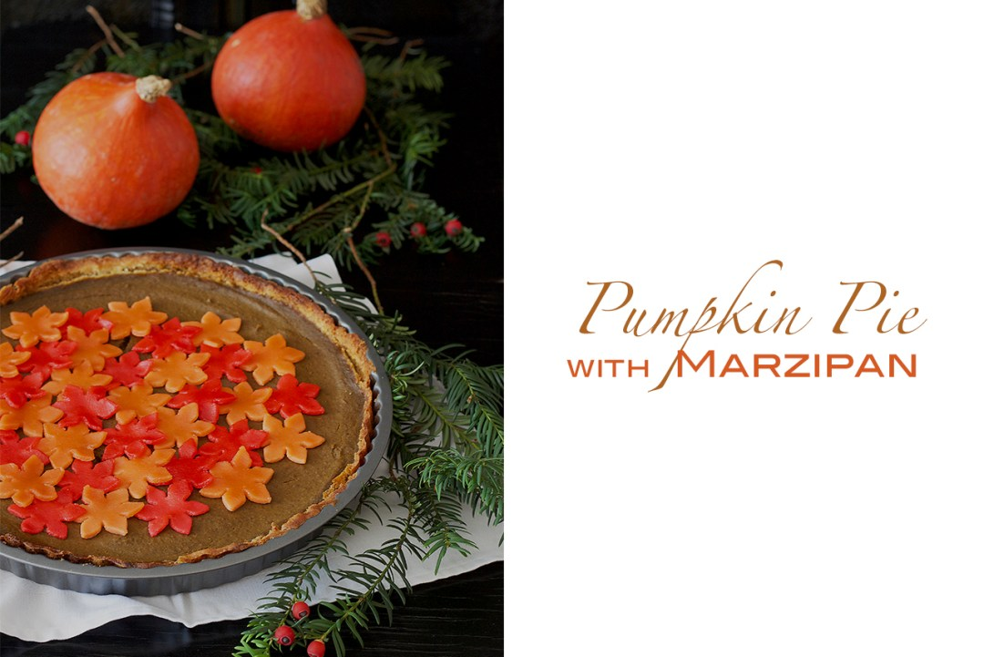 pumpkin pie with marzipan