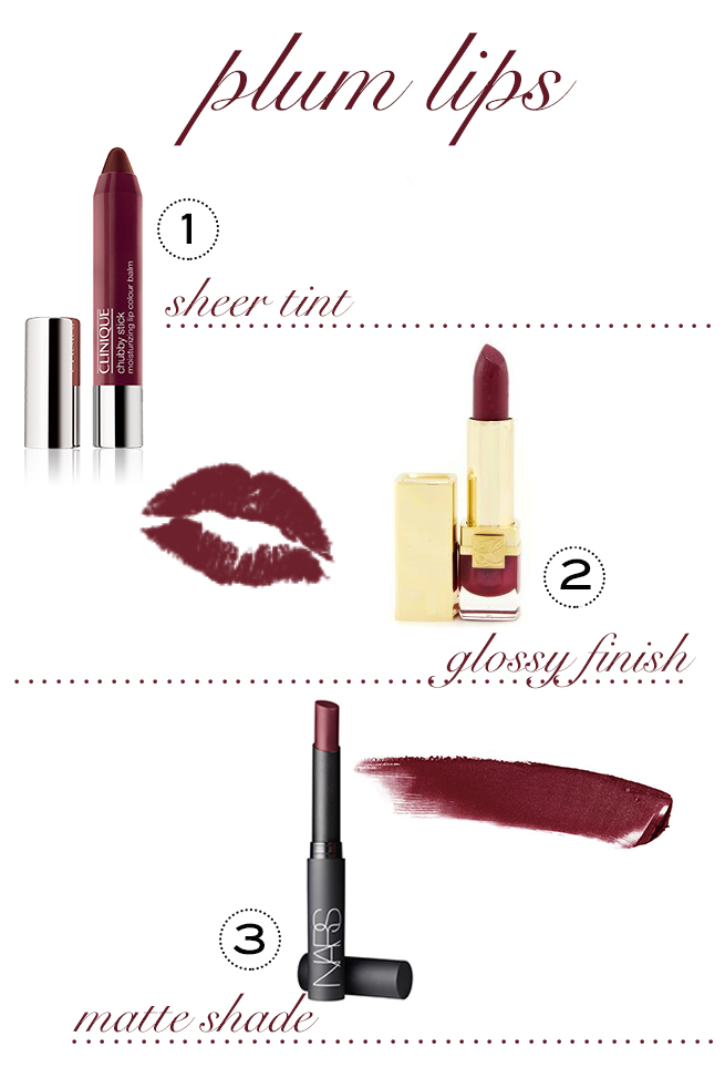 plum lipsticks