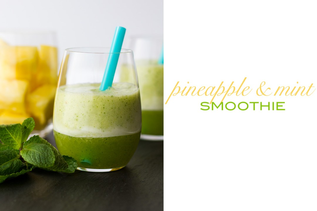 pineapple mint coconut smoothie