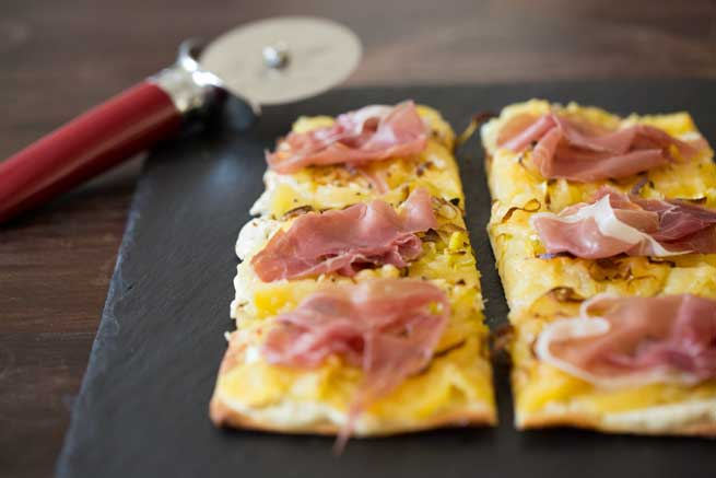 potato flammkuchen