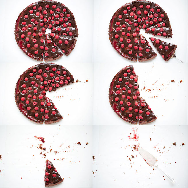 double chocolate raspberry tarte