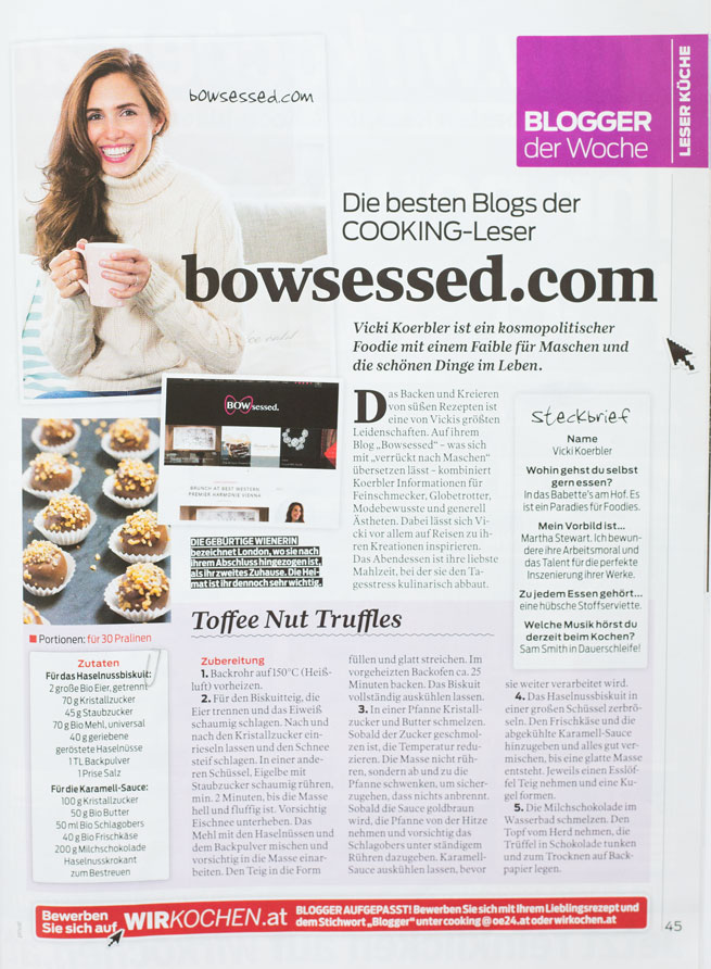 bowsessed vicki koerbler cooking magazin