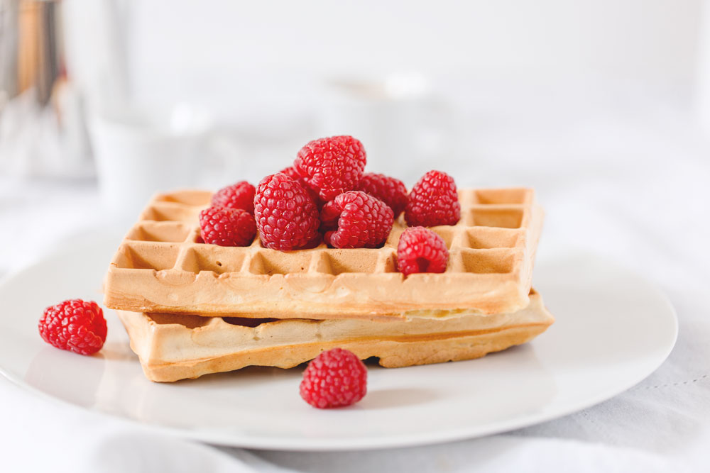 homemade yogurt waffles