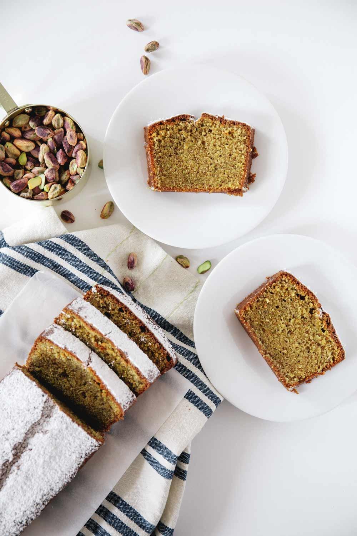 chai pistachio cake