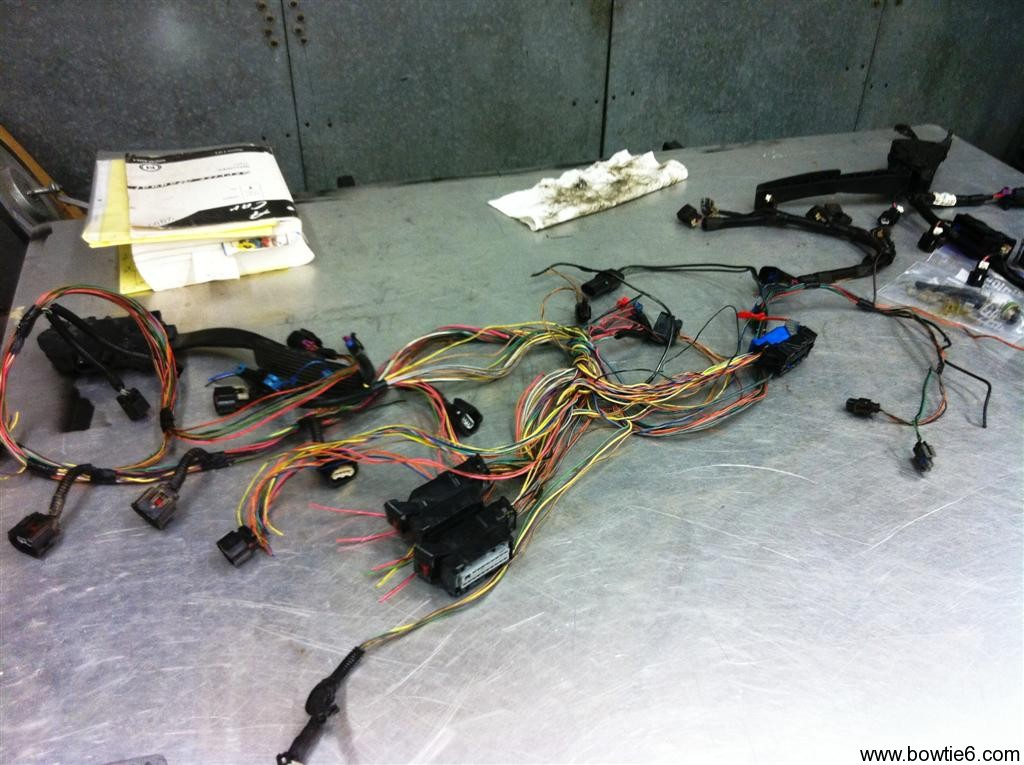 ecotec wiring harness this photo shows the harness from a wrecked 2 4 ecotec powered hhr the harness is basically all there however it must be modified to work the ecm and