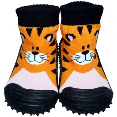 chaussons-chaussettes-antiderapants-tigre