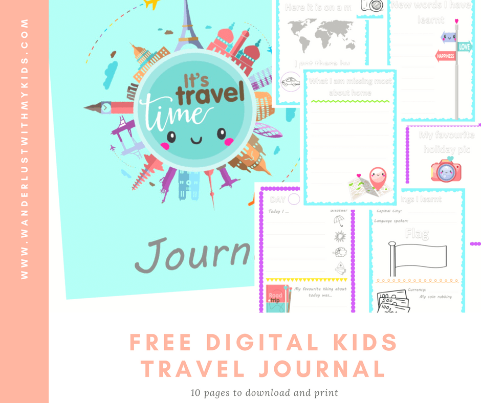 Free digital kids travel journal