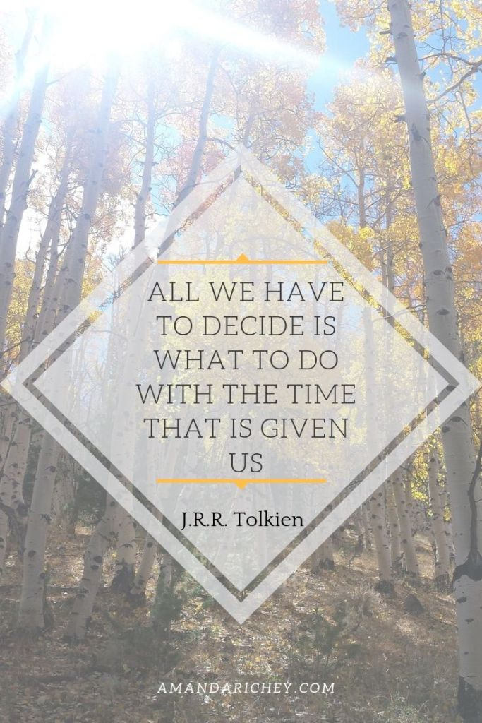All we have to decide is what to do  by Tolkien with the time that is given is