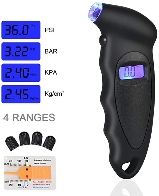 Manómetro digital moto