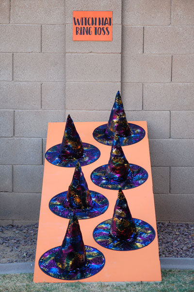 Halloween Party Games- Witch Hat Ring Toss