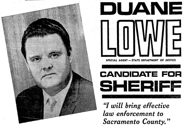 1970 duane lowe political ad for sheriff