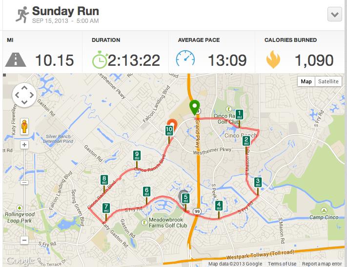 ten mile run in cinco ranch