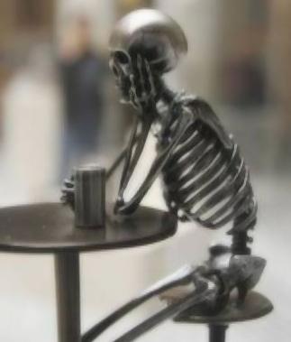 Skeleton with Beer