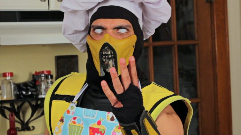 Scorpion dressed as a chef